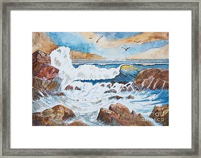 To Rough For Fishing Framed Print