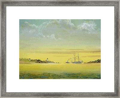 To Sea With The Outgoing Tide Framed Print by Ray Annino