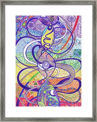 To See A World In A Dna Strand Framed Print by Ty DAvila