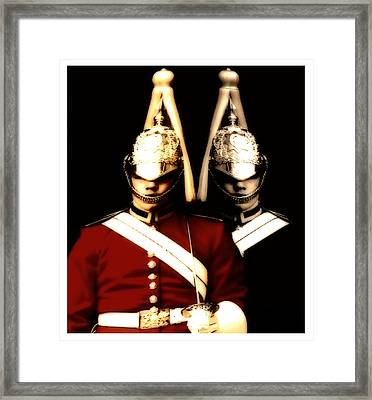 Framed Print featuring the digital art I See Double  by Fine Art By Andrew David