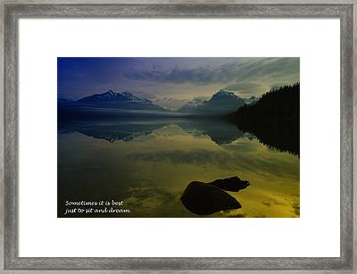 To Sit And Dream Framed Print by Jeff Swan