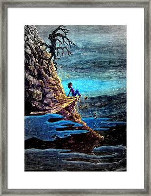To Steep To Turn Back ... Framed Print