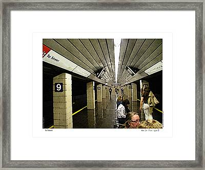 Framed Print featuring the photograph To Street by Kenneth De Tore