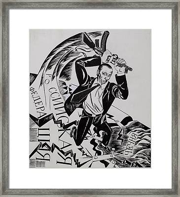 To Strengthen Violence Russia - To Distroy Russia Framed Print by Ivan Koretnikov