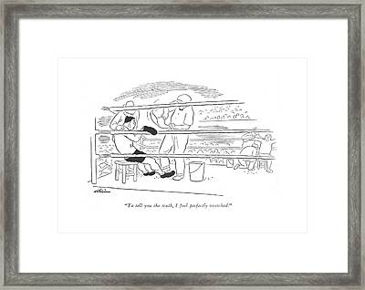 To Tell You The Truth Framed Print by  Alain
