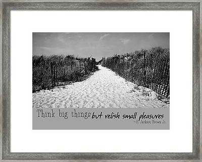 To The Beach Quote Framed Print by JAMART Photography