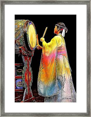 Beat Of The Drum Framed Print