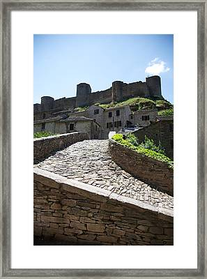 To The Castle Above Framed Print by Lee Stickels