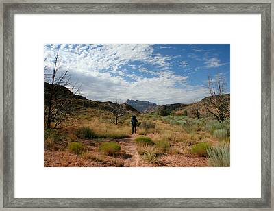 Framed Print featuring the photograph To The Desert by Jon Emery