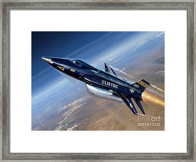 To The Edge Of Space - The X-15 Framed Print by Stu Shepherd