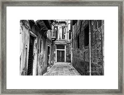 To The End Of The Street Framed Print by John Rizzuto