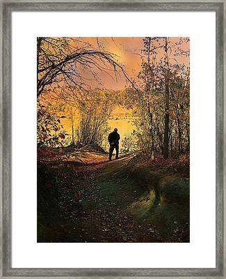To The Fields Of Light Framed Print by Shirley Sirois