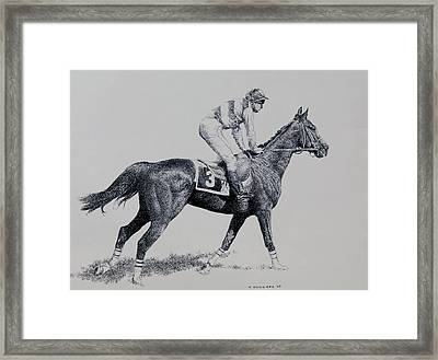 To The Gate Framed Print