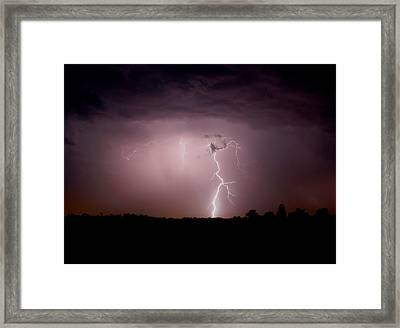 To The Ground Framed Print
