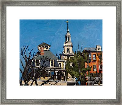 To The Heights Framed Print