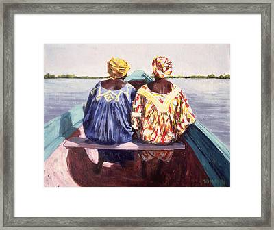 To The Island, 1998 Oil On Canvas Framed Print by Tilly Willis