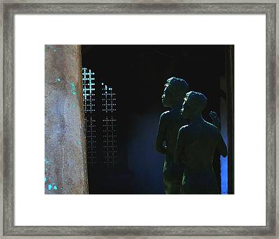 To The Light Framed Print by Lin Haring