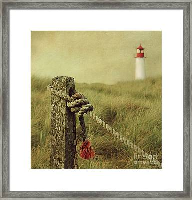 To The Lighthouse Framed Print by Hannes Cmarits