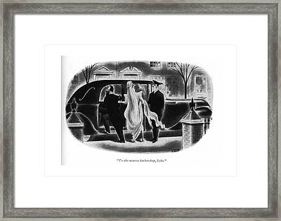 To The Nearest Barbershop Framed Print by Richard Taylor