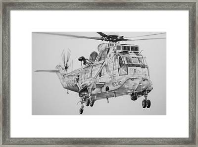 To The Rescue Framed Print by James Baldwin Aviation Art