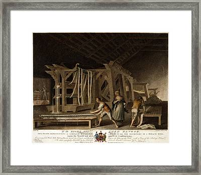 To The Right Honble Lord Bangor, This Plate Representing Framed Print by Litz Collection