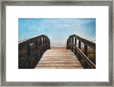 To The Sea Framed Print by Kim Hojnacki