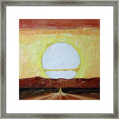 To The Sun Framed Print by Jane Autry