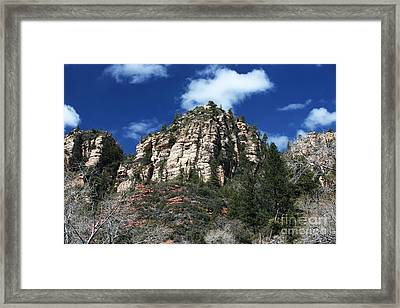 To The Top In Sedona Framed Print by John Rizzuto