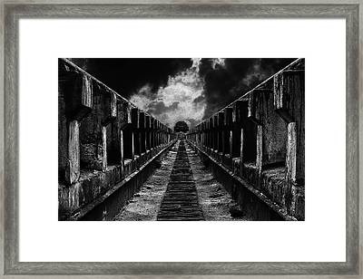 To The Train Framed Print
