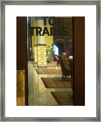 To The Trains Framed Print by Pamela Schreckengost