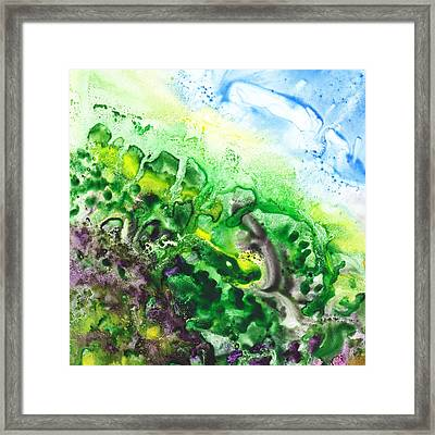 To The Unknown Abstract Path Number Five Framed Print by Irina Sztukowski