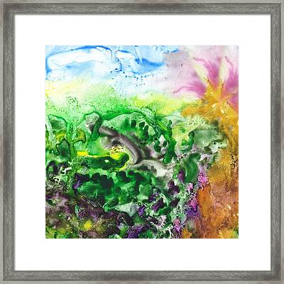 To The Unknown Abstract Path Number Six Framed Print