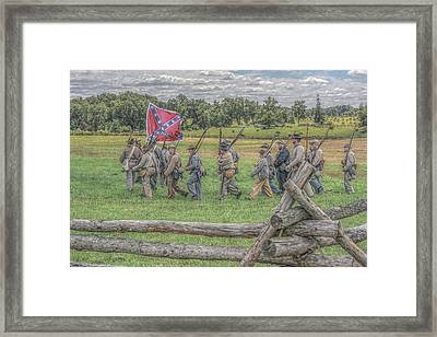 To The Wheatfield And Glory Framed Print