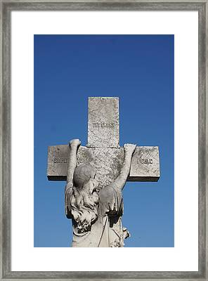 To Thy Cross I Cling Framed Print by Brian Jones