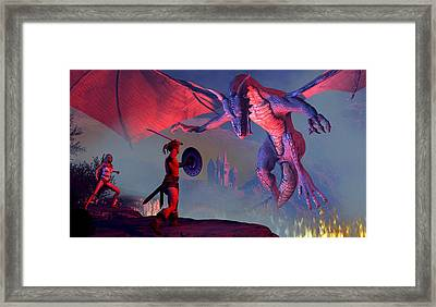 To Tip The Scales Framed Print by Dieter Carlton