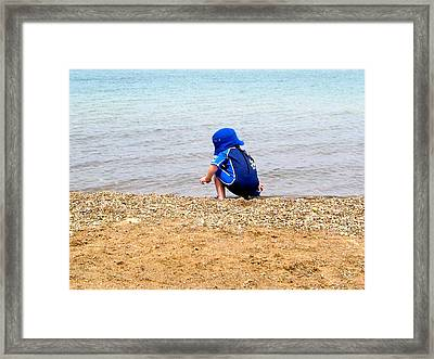 To Unpathed Waters Framed Print