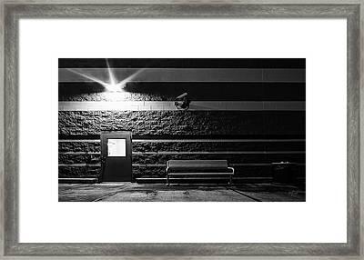 To Wait Or To Enter Framed Print by Everet Regal