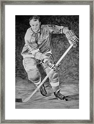 To You Is Mr. Hockey  Framed Print by Peter Jurik