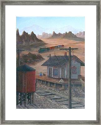 To Yuma Framed Print