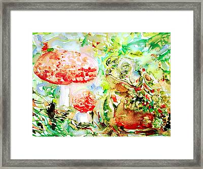 Toad And Mushroom.2 Framed Print by Fabrizio Cassetta