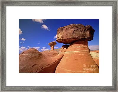 Toadstool Caprocks New Mexico Framed Print