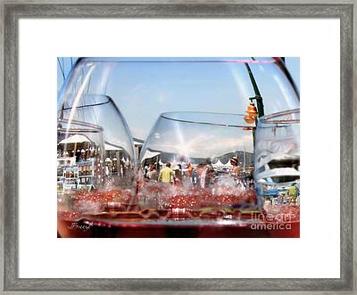 Toast In St Tropez Framed Print by Jennie Breeze