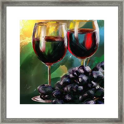 Toast Of Wine Framed Print