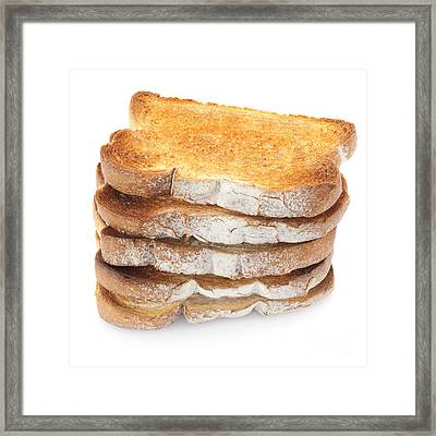 Toast Stack Framed Print by Colin and Linda McKie