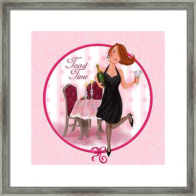 Toast Time Framed Print by Shari Warren