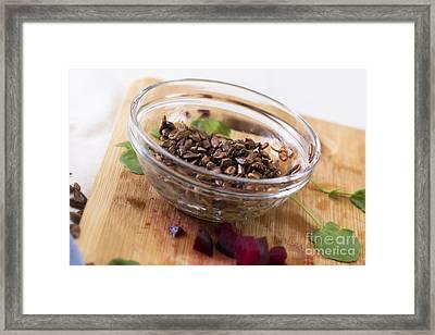 Toasted Sunflower Seeds Framed Print