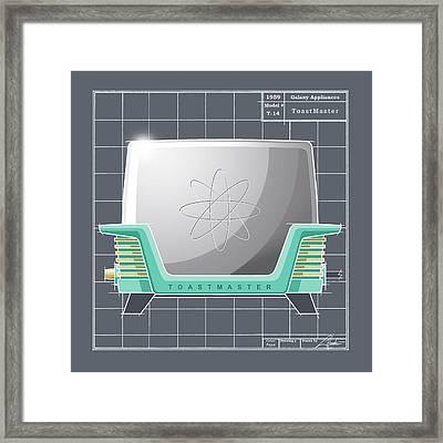 Toastmaster - Aqua Framed Print