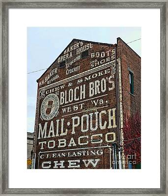 Tobacciana - Mail Pouch Tobacco Framed Print by Paul Ward