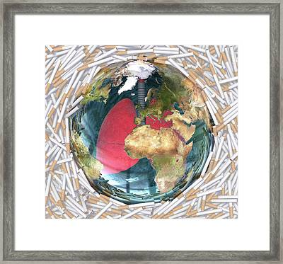 Tobacco And Health Framed Print by Animated Healthcare Ltd