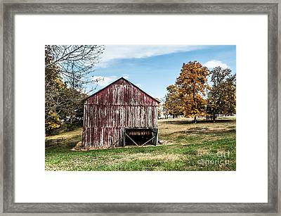 Framed Print featuring the photograph Tobacco Barn Ready For Smoking by Debbie Green